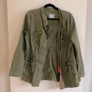 Old Navy Army Green Utility Cargo Jacket L